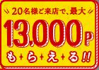 ホットペッパーグルメで予約すると、1人600ポイント、最大12000ポイントで幹事をすればするほど儲かる。抽選で1000名に1万ポイントが当たる。