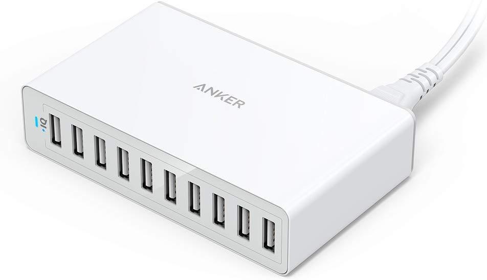 アマゾンタイムセールで、USB10ポート同時充電、最大12A出力な「Anker PowerPort 10」がセール中。