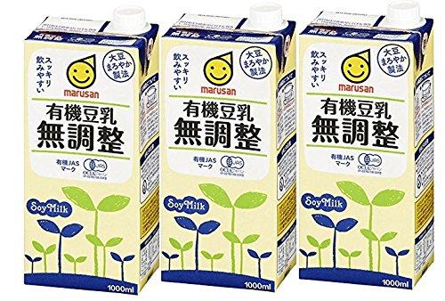 アマゾンパントリーでマルサンアイ 有機豆乳無調整 1000ml×3本がセール中。
