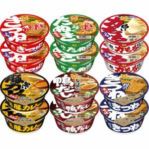 アマゾンでマルちゃん 和風麺カラフル6種セットが半額。原材料がちょっと草。