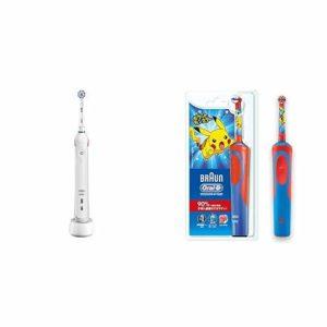 アマゾンでオーラルB 電動歯ブラシ PRO2000 ホワイト D12513KPKMB & すみずみクリーンキッズがセール中。