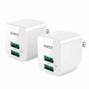 アマゾンタイムセールでAukey USB充電器 2ポート 超小型がタイムセール中。