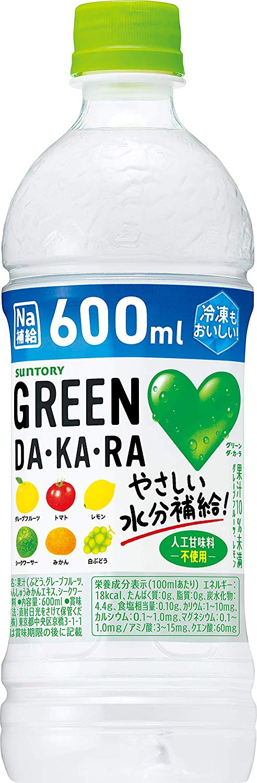 アマゾンでサントリー GREEN DA・KA・RA 600ml×24本がセール中。