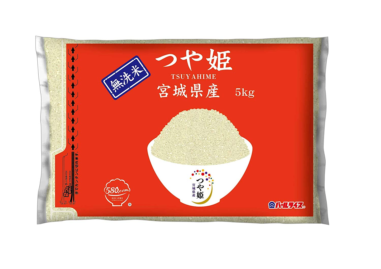 アマゾンで宮城県産 無洗米 つや姫 5kgが半額の1140円セール。5kgの割にはかなり安い。