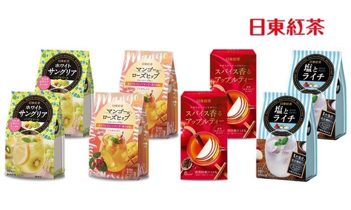 グルーポンで日東紅茶|4種・計8個バラエティセット(計68杯分)が2916円⇒1290円。