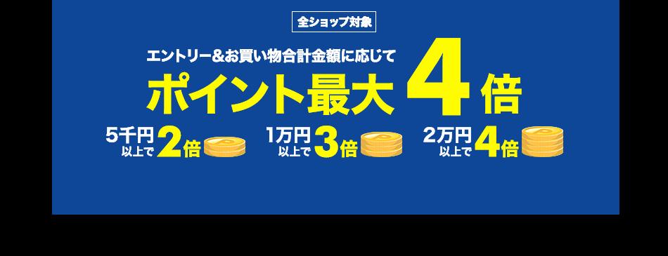 楽天で購入金額に応じてポイント2倍~4倍キャンペーンを開催中。~6/29。