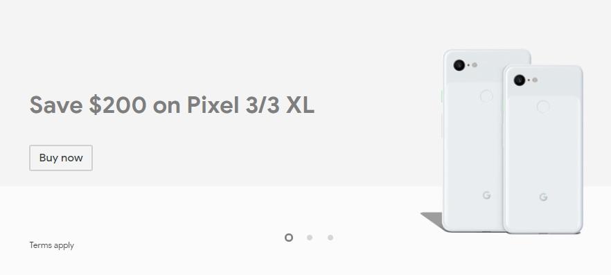 【日本開始】米国GoogleStoreにてPixel 3/3 XLが200ドルOFFセール。日本はまだだけど数日待とう。~7/18。