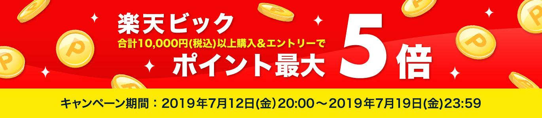 楽天ビックで1万円以上購入でポイント5倍。
