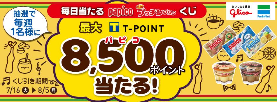 Yahoo!ズバトクでパピコやプリンを買うと最大8500ポイントが当たる。~8/5。