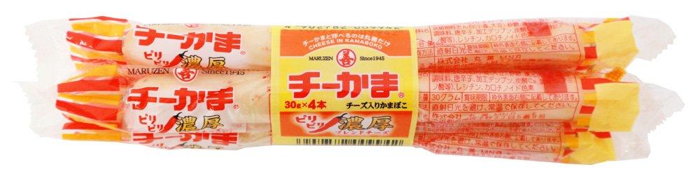 アマゾンで丸善 ピリピリチーかま濃厚ブレンドチーズ 4束(120g)×10袋の半額クーポンを配信中。