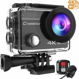 アマゾンでCrosstour アクションカメラ 4Kカメラの割引クーポンを配信中。安物中華製アクションカメラとGoProやDJI Osmo Actionの違い、比較。