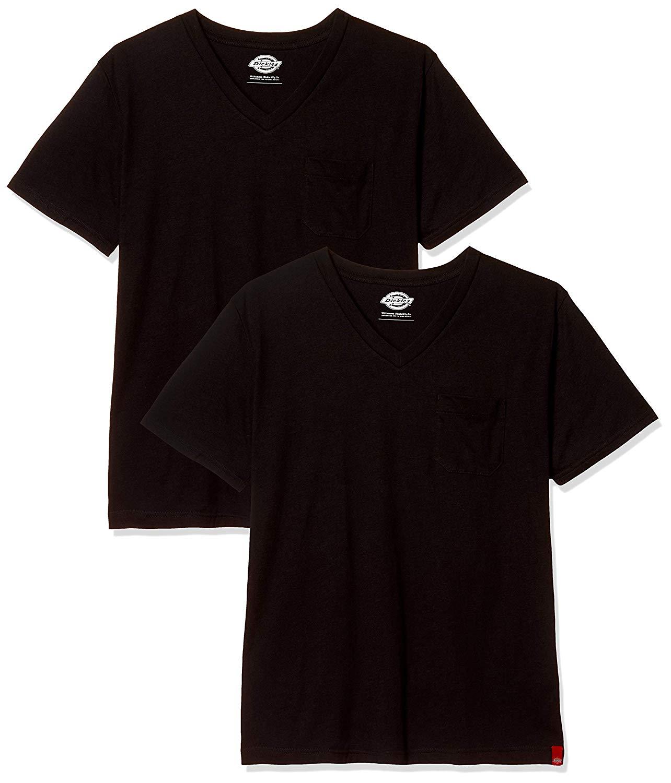 深すぎないVネックTシャツ、ディッキーズ2枚セットが1620円⇒649円、1枚300円ちょい。