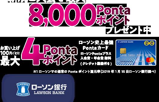 ローソン銀行のクレジットカード「ローソンPontaプラス」で6%ポイント還元へ。10/1~。