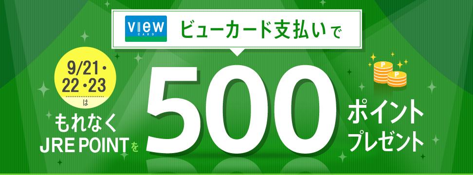 JRE MALLでビューカードで4000円以上買うともれなく500ポイント付与。