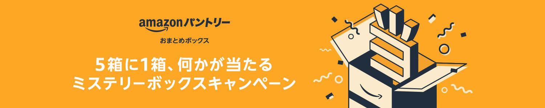 アマゾンパントリーで5箱に1箱何かが当たるミステリーボックスキャンペーン。Fire TV Stick 4KやEcho dotも入ってる。~12/5 9時。