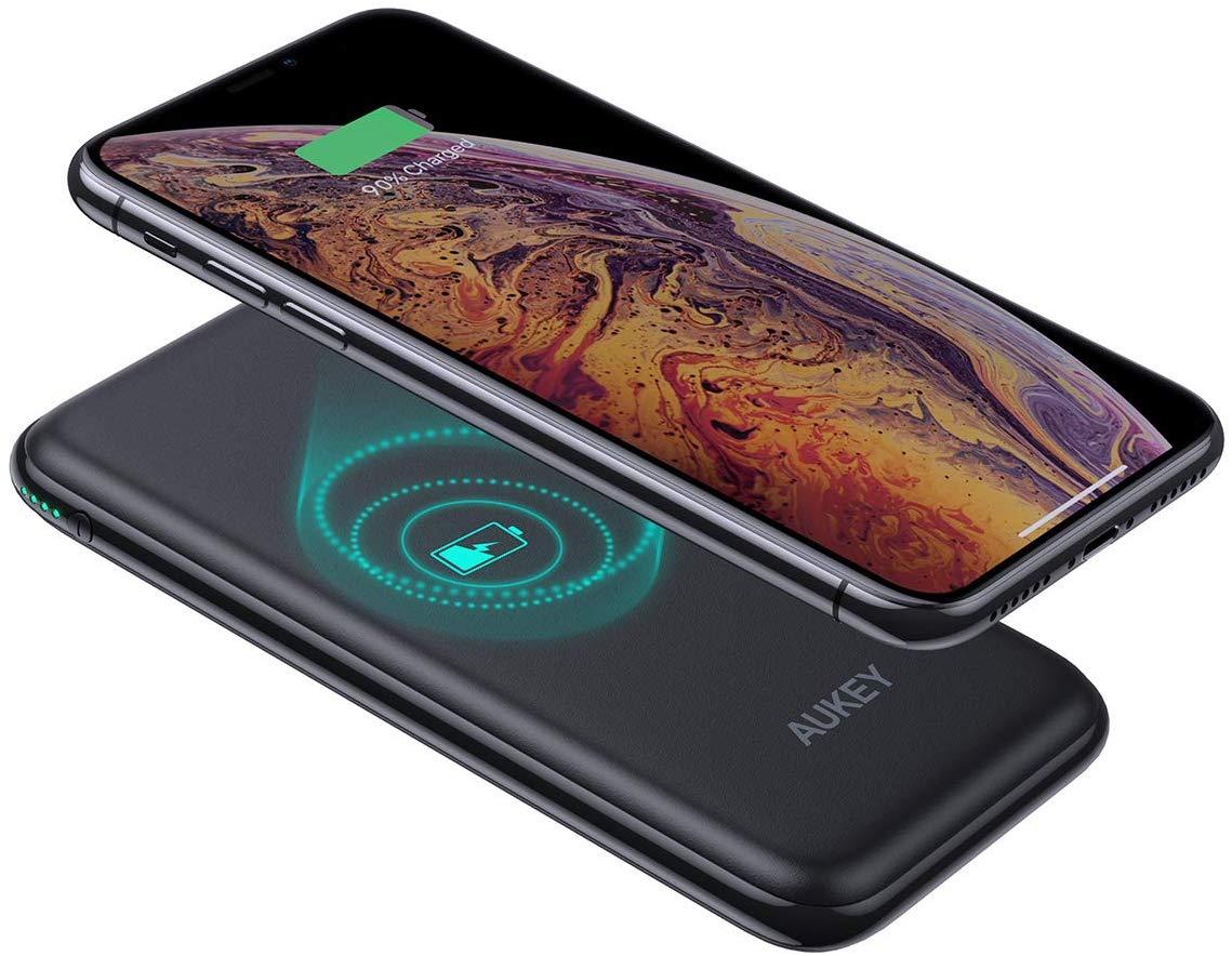 【新発売】AUKEY Qi対応モバイルバッテリー 8000mAh ワイヤレス充電可能 PB-Y25の割引クーポンを配信中。