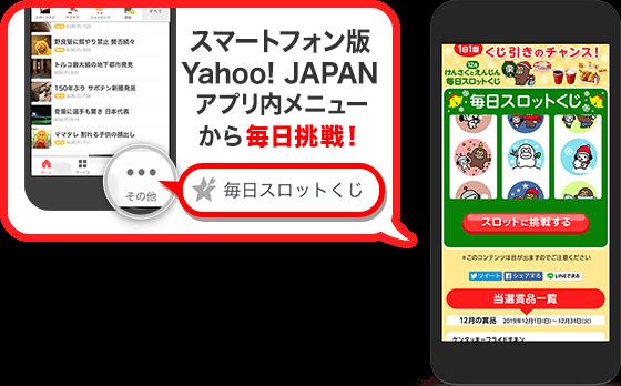 Yahoo!アプリの毎日くじでケンタッキーフライドチキンが2000名、ファミマカフェが11000名、雪見だいふくが500名、PayPay1円分ぐらいならばもれなく貰えそう。~12/25。