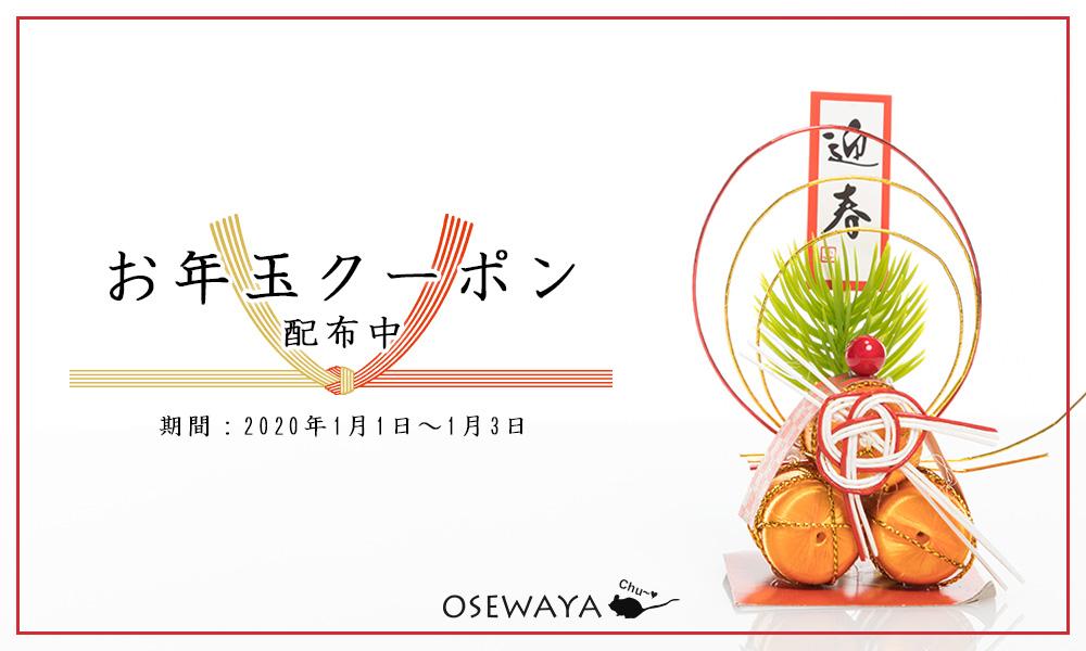 アクセサリー通販の「OSEWAYA」で1000円引きクーポンを配信中。~1/3。
