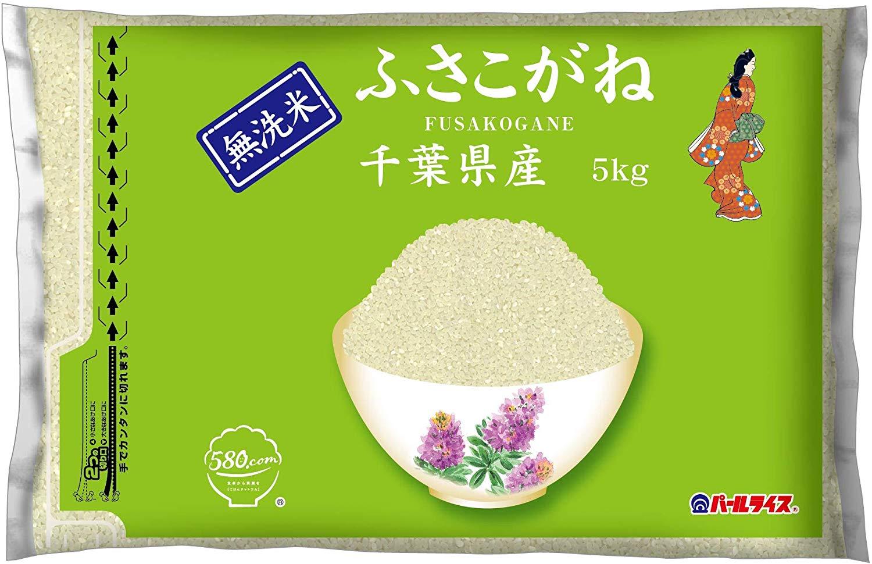 アマゾンで千葉県産 無洗米 ふさこがね 5kg 令和元年産がアウトレットセール。