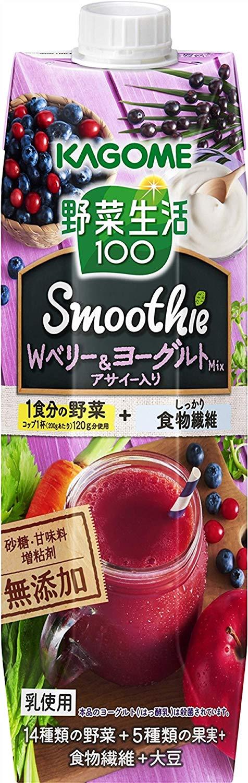 アマゾンでカゴメ 野菜生活100ノーマル版とSmoothie(スムージー) 豆乳バナナミックス 330ml×12本がセール中。