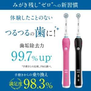 楽天スーパーDEALでオーラルB 電動歯ブラシ PRO2000がセール中。とは言え意味がない。