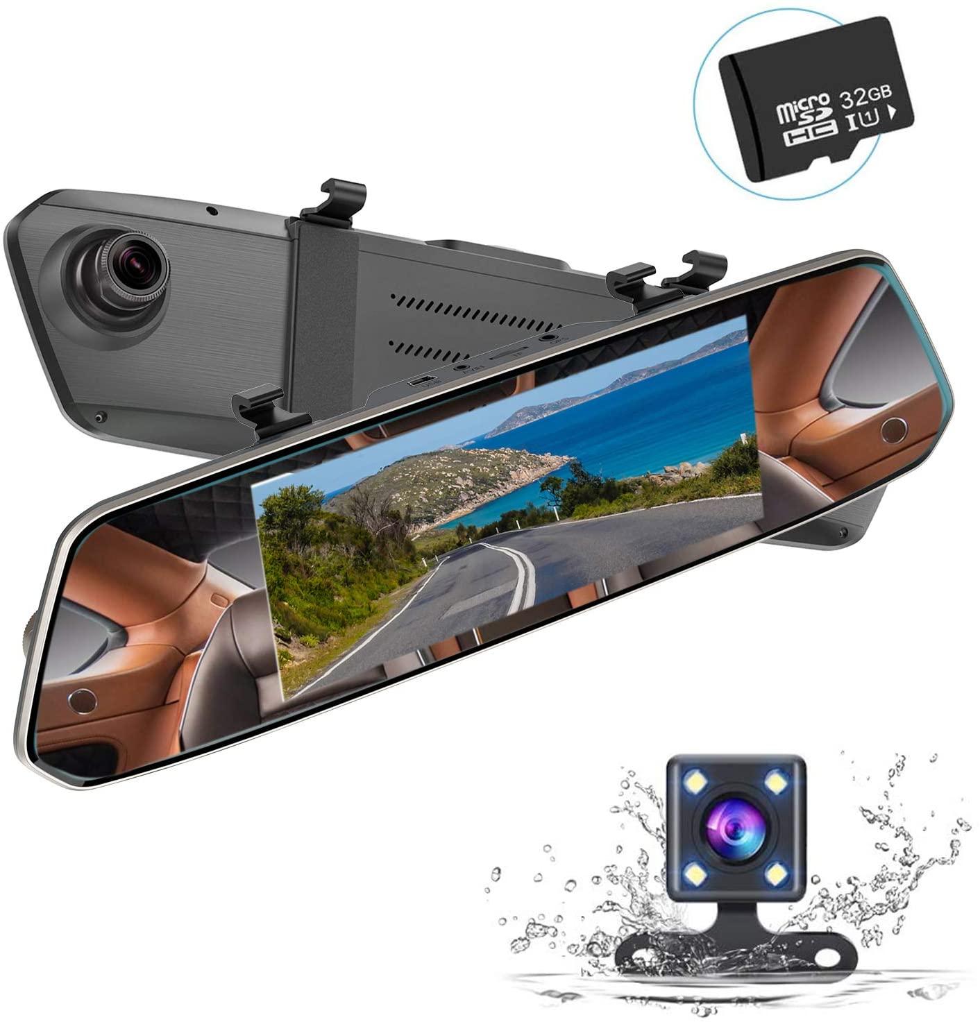 アマゾンでMUSON(ムソン)ドライブレコーダー バックミラー型 前後カメラ 1080PフルHDの割引クーポンを配信中。