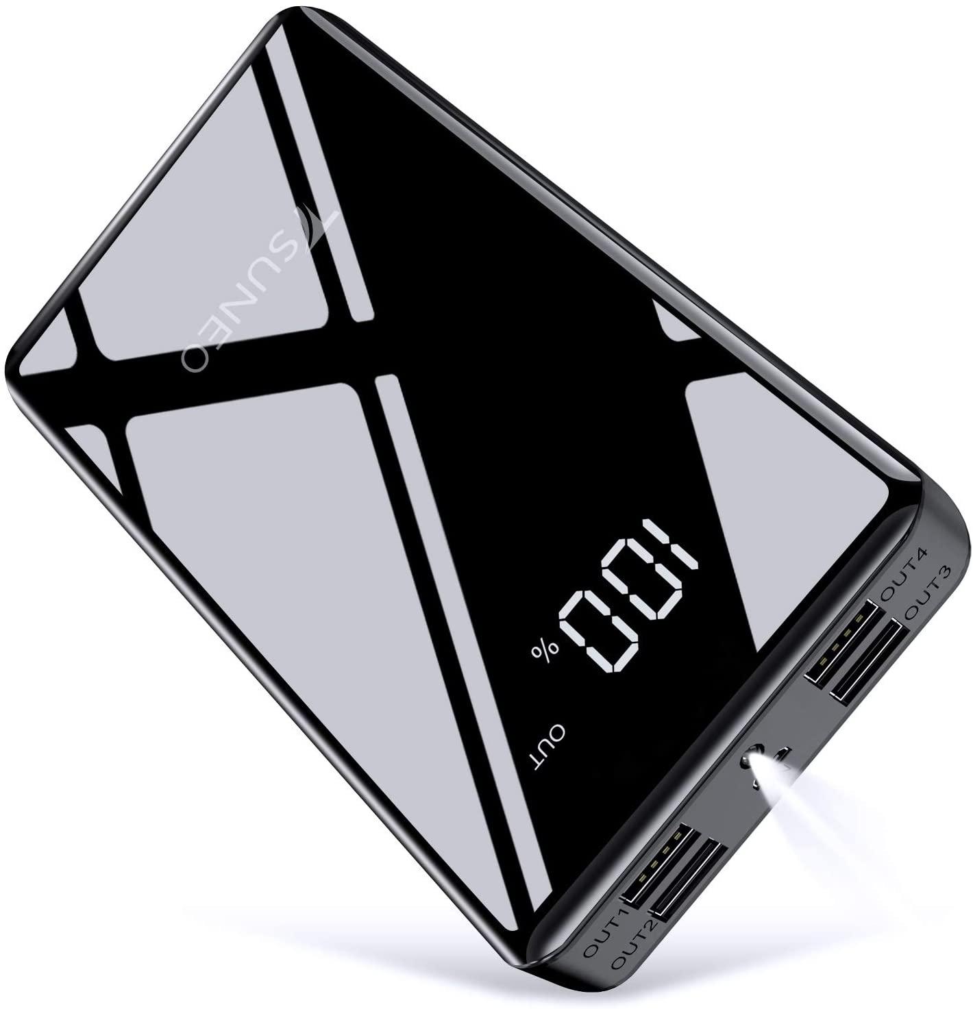 アマゾンでTSUNEOのモバイルバッテリー 25000mAh 4ポート出力が結構な割引。実測78%と優秀。