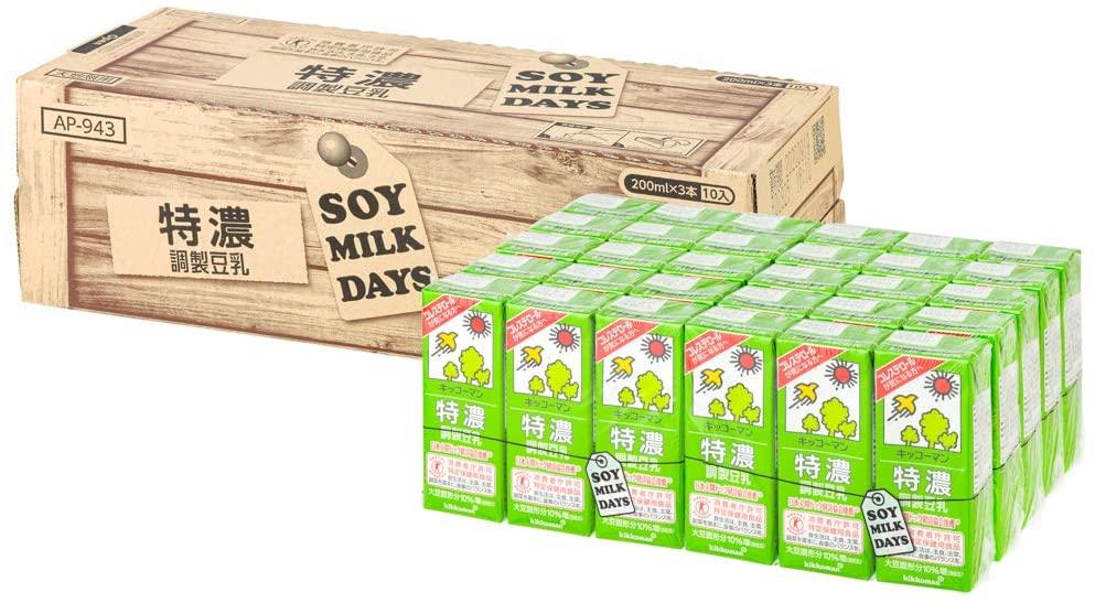 アマゾンでキッコーマン飲料 特濃調製豆乳 SOYMILKDAYS 200ml ×30本が割引クーポンを配信中。