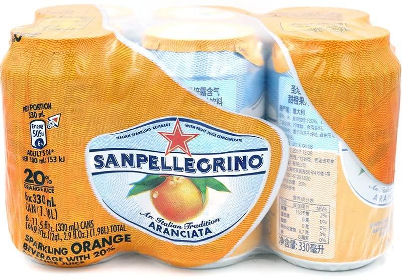 アマゾンでサンペレグリノ (S.PELLEGRINO) アランチャ―タ オレンジ 缶 330ml ×6本が半額セール。