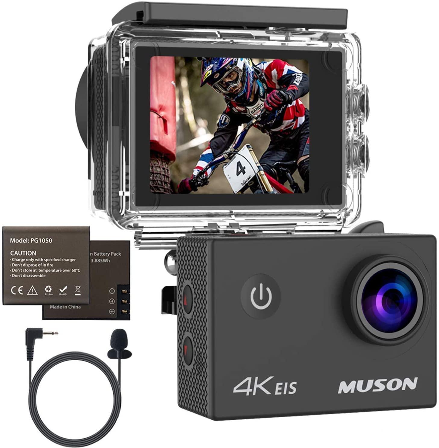 MUSON(ムソン) スポーツアクションカメラ 4K対応の割引クーポンを配信中。安かろう悪かろう。