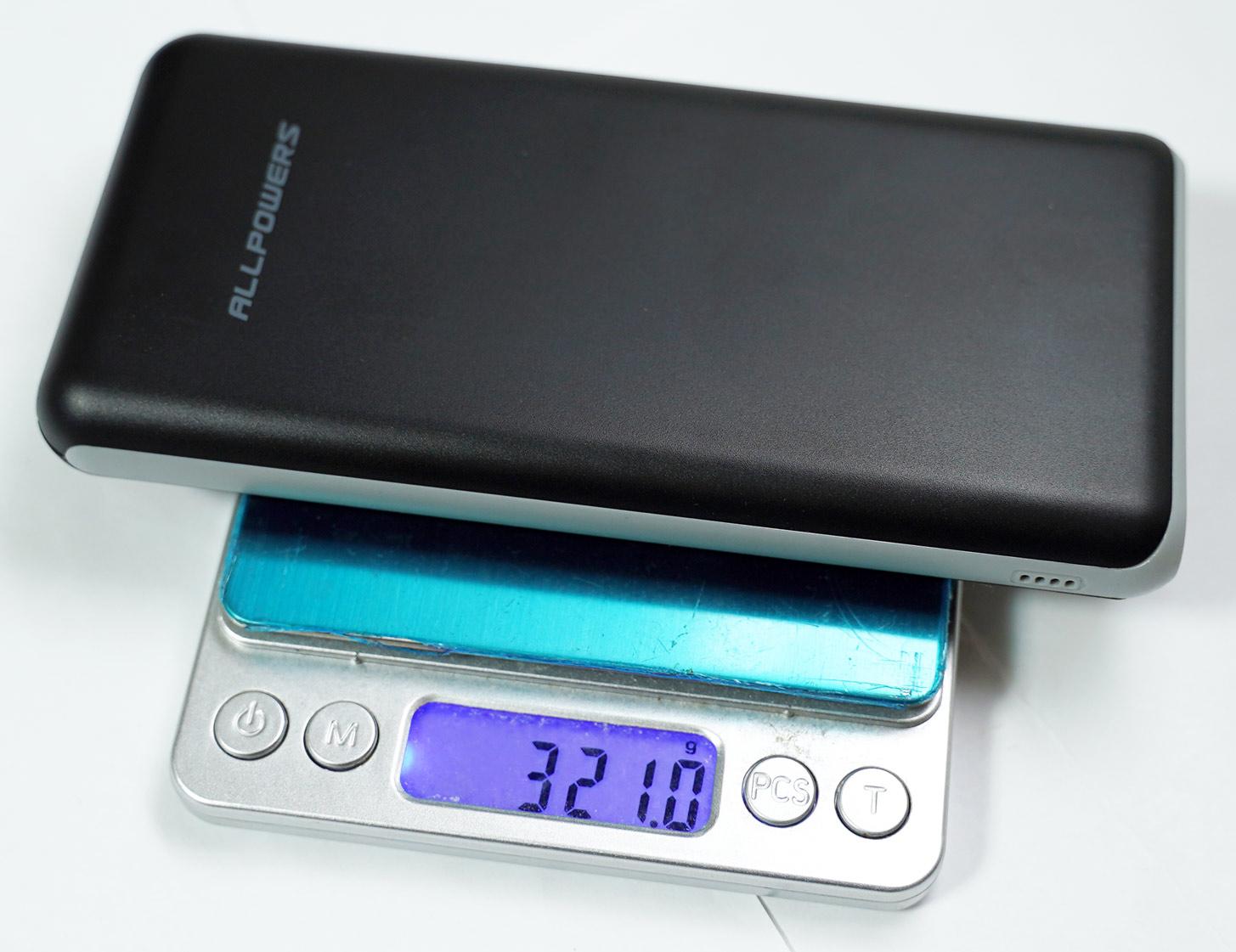 【レビュー】1000円以下の怪しすぎるALLPOWERS モバイルバッテリー 20000mAhを買ってみたぞ。意外と普通のモバイルバッテリー。実測9304mAh。