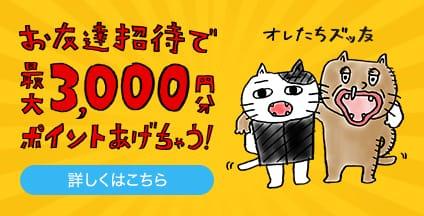 ZOZOTOWNに新規登録で1000ポイントがもれなく貰える。招待すると最大3000ポイントが貰える。~1/12 12時。