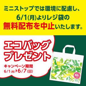 ミニストップで700円以上買うとエゴバッグがもれなく貰える。レジ袋の無料配布を中止。~6/7。