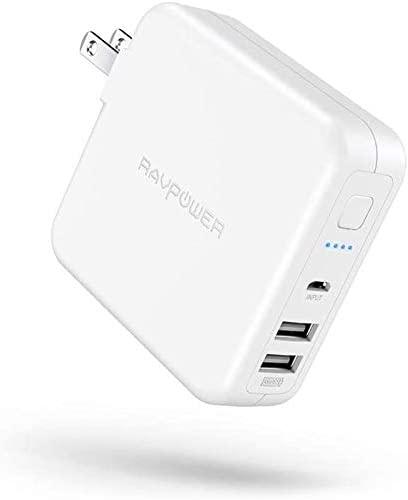 アマゾンでRAVPower モバイルバッテリーと一体型充電器 6700mAhがセール中。Anker PowerCore Fusion 5000mAhのライバル機種。