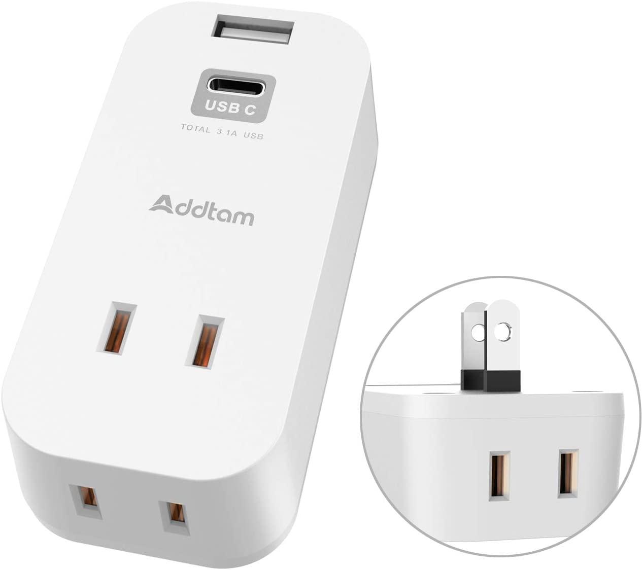 アマゾンで電源タップにUSBポートを増設できるUSBコンセント Addtamが560円となる割引クーポンを配信中。
