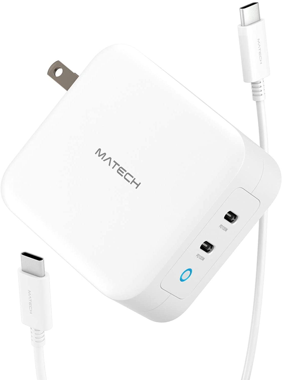 アマゾンでMATECH Sonicharge 100W USB-C 急速充電器 GaN採用 2USB-Cポートがセール中。