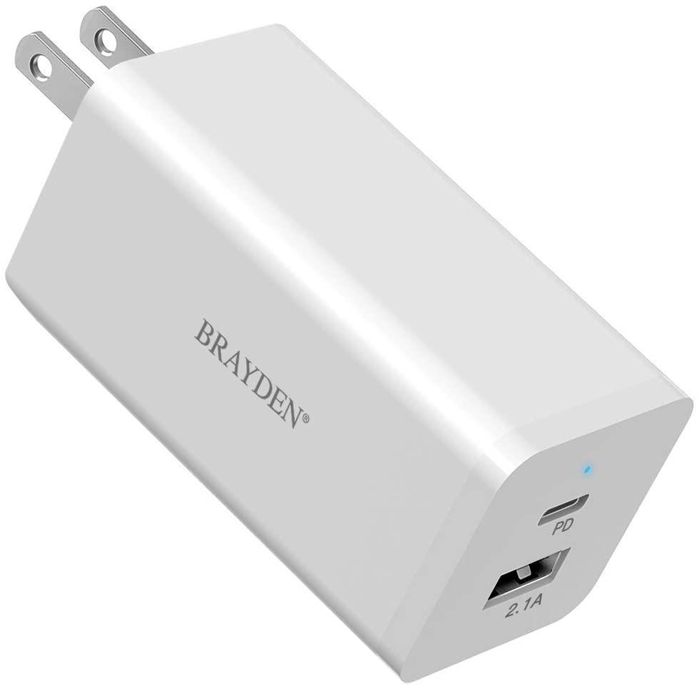 アマゾンでBRAYDEN 66W USB-C 急速充電器を買うとイヤホンが無料。