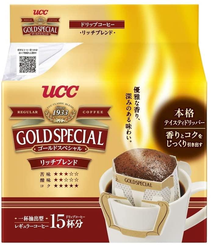 【7割引】アマゾンでUCC ゴールドスペシャル ドリップコーヒー リッチブレンド 15P×12袋 120g ×12個 レギュラー(ドリップ) の半額割引クーポンを配信中。