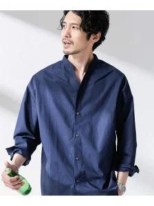 【ダサい】楽天ファッションでナノ・ユニバースのダサめの「大人のワイドシャツバンドカラー」が4割引+大量ポイントバック。