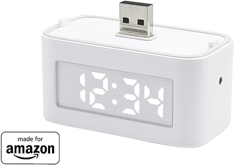 アマゾンで【Echo Flex用】 Third Reality スマートクロックが販売予定。1780円、8/11~。dot with clockで良いのでは。