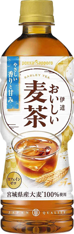 アマゾンでポッカサッポロ 伊達おいしい麦茶 525ml ×24本がセール中。