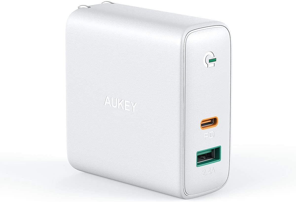 AUKEY ACアダプタ 60W出力 GaN採用 USB-A,USB-C PA-D3がタイムセール。