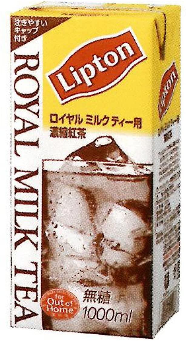 楽天スーパーDEALでリプトン 公式 無糖 ロイヤルミルクティーベース 2ケース(1,000ml×6本×2ケース) がポイント40%バック。~明日10時。
