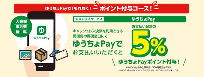 ゆうちょPayで郵便窓口で切手を買いまくると5%ポイント付与。9/1~