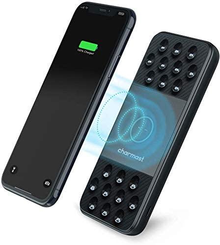 アマゾンで無駄に吸盤がついたワイヤレスモバイルバッテリー、Charmast 10000mAhが1799円でセール中。無線、不要。