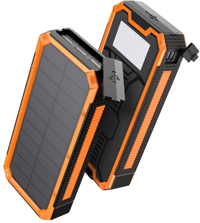 アマゾンでAngeek モバイルバッテリー ソーラーチャージャー 30000mAh USB-PD 18W が1999円。