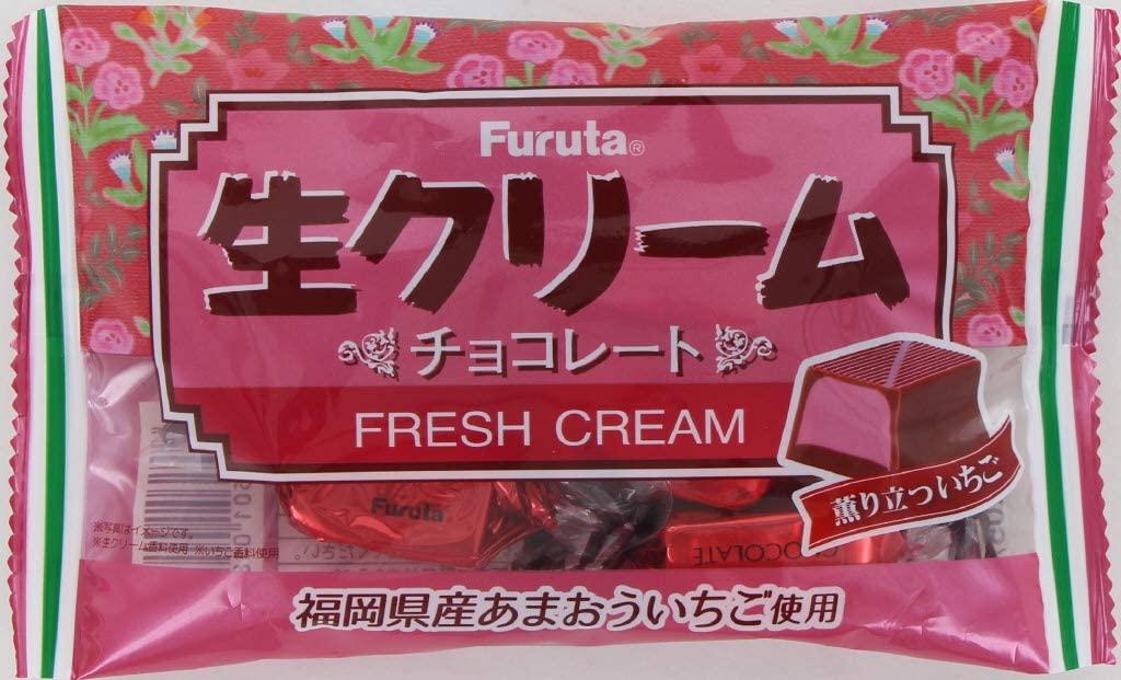 アマゾンでフルタ製菓 生クリームチョコ薫り立ついちご 46g ×10袋が半額セール。
