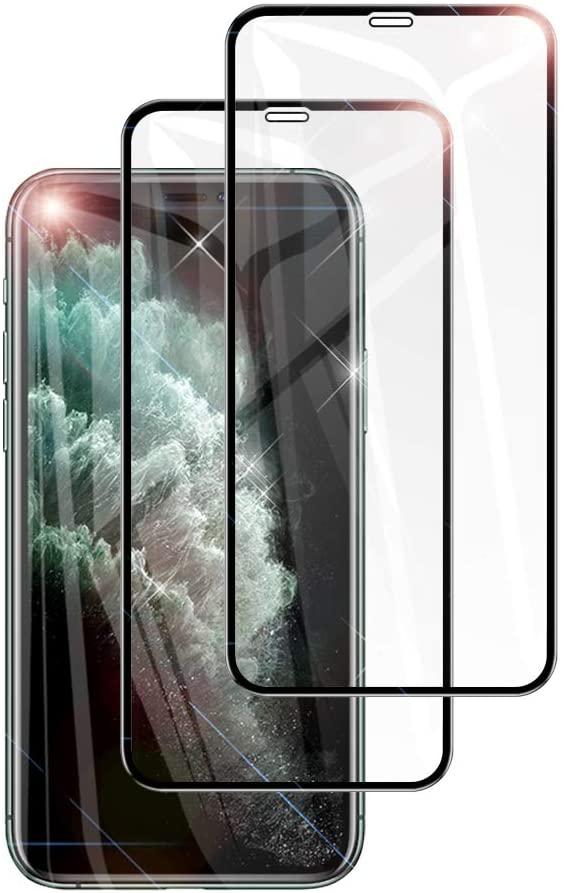 アマゾンでiPhone 11/XR/Xs Max用ガラスフィルムが2枚200円からセール中。ダイソーより安い。
