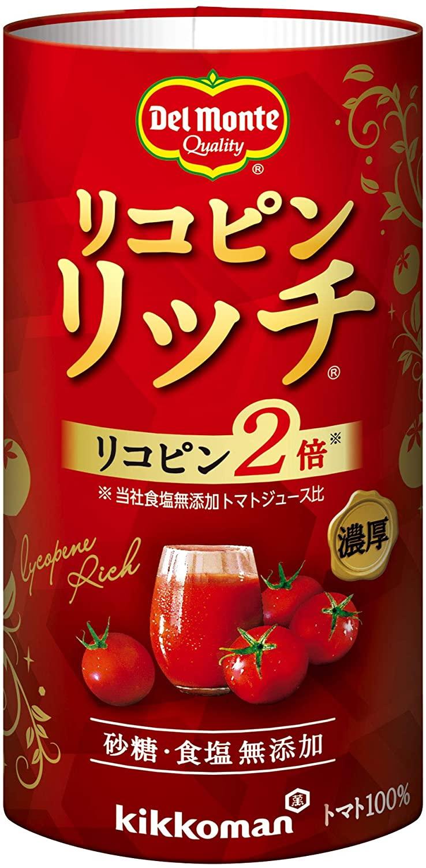 アマゾンで貴族向け、デルモンテ リコピンリッチ トマト飲料 125ml ×18本が多少セール中。