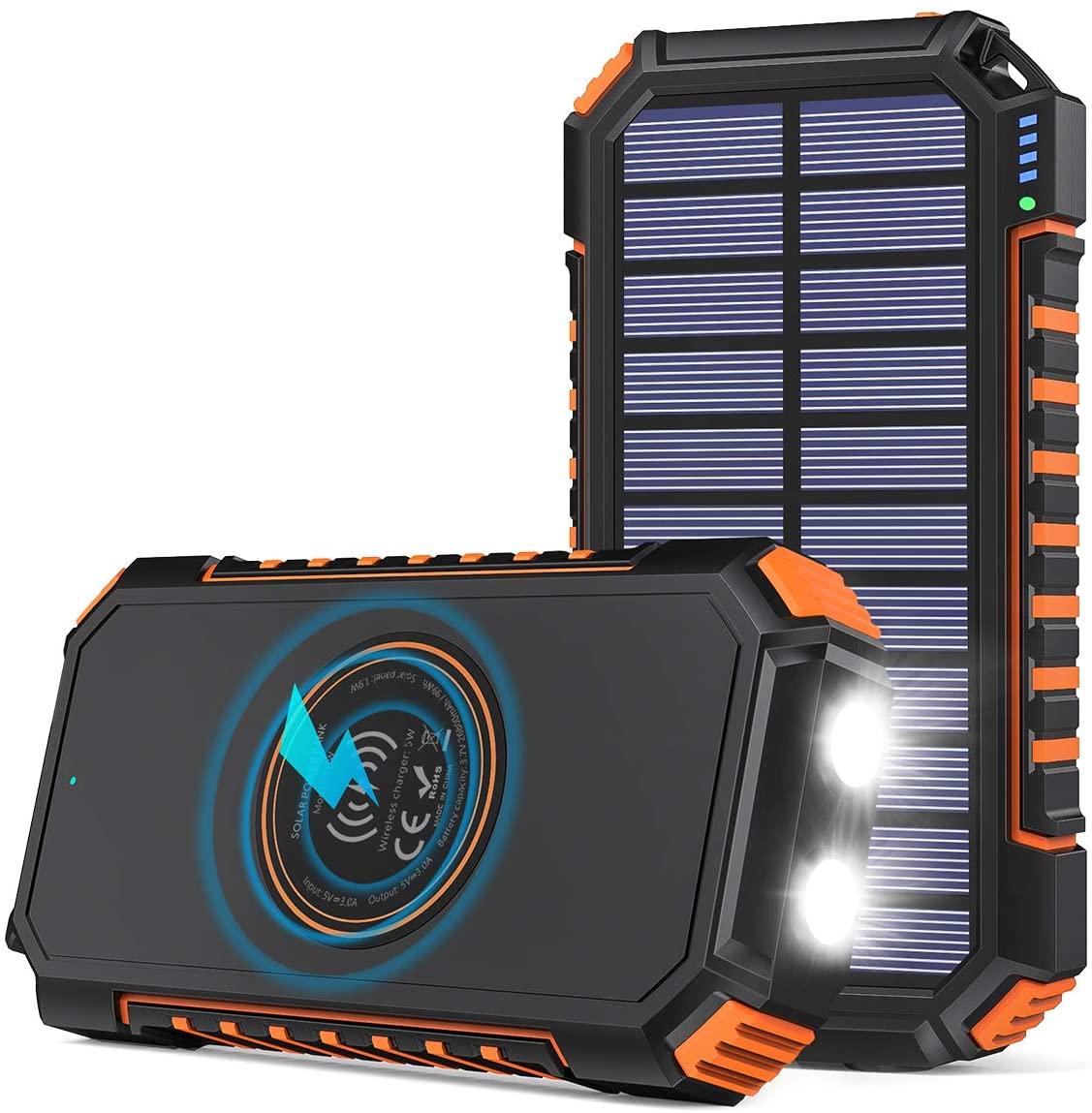 アマゾンでADDTOP ソーラーチャージャ一 26800mAhが1499円。USB-PD未対応。